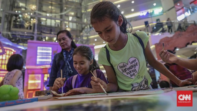 Pameran instalasi film 'Harry Potter' sedang digelar di salah satu mall di Jakarta Barat.