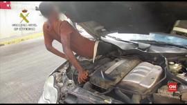 VIDEO: Imigran Guinea Sembunyi di Celah Ruang Mesin Mobil