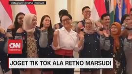 VIDEO: Menteri Luar Negeri Retno Marsudi Joget Ala Tik Tok