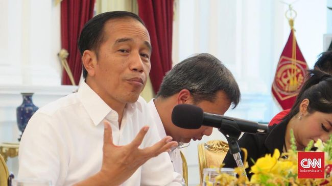 Jokowi menyatakan stabilitas politik yang goyang bisa membahayakan ekonomi.