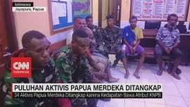 VIDEO: Puluhan Aktivis Papua Merdeka Ditangkap
