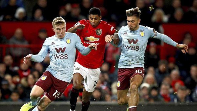 Manchester United harus puas bermain imbang melawan Aston Villa dalam laga Liga Inggris di Old Trafford.