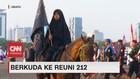 VIDEO: Rombongan Peserta Reuni 212 Berkuda Menuju Monas