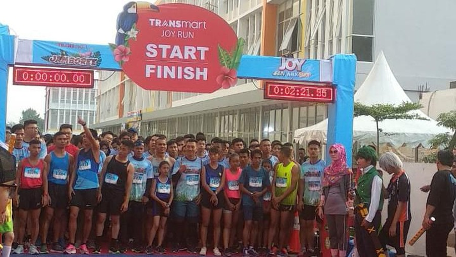 Dukung Jambi Sebagai Kota Sehat, Transmart Hadirkan Event Joy Run