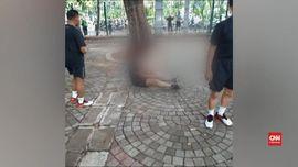 VIDEO: Ledakan Granat Asap di Monas Lukai Dua Anggota TNI