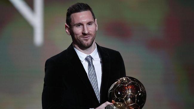 Lionel Messi berhasil mencatat sejarah sebagai orang pertama yang meraih enam Ballon d'Or.