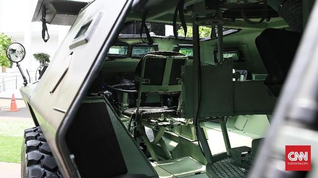 Pameran diikuti oleh 25 perusahaan swasta nasional yang bergerak di bidang industri pertahanan. Produk yang dipamerkan merupakan produksi dalam negeri. (CNN Indonesia/Andry Novelino).