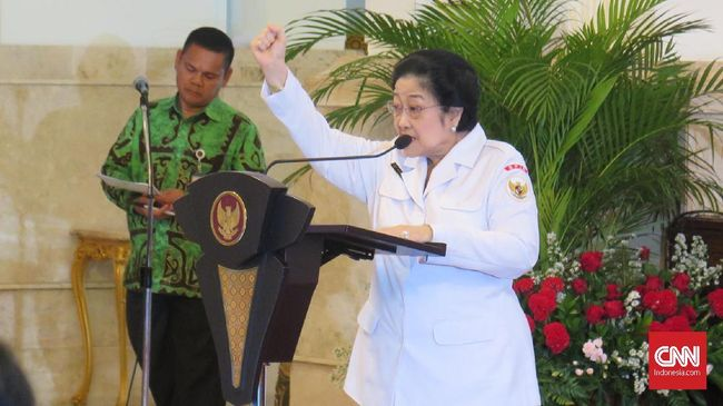 Presiden Joko Widodo melantik Megawati Soekarnoputri sebagai Dewan Pengarah Badan Riset dan Inovasi Nasional (BRIN).