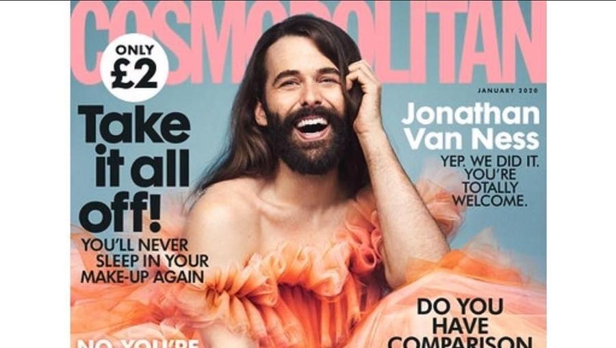 Bersejarah! Model Pria Pertama Mengisi Sampul Cosmopolitan UK