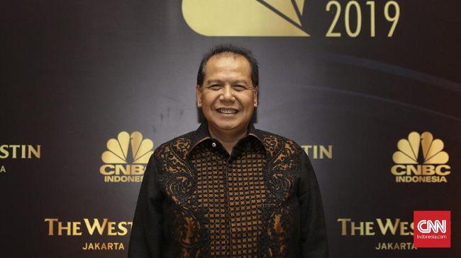 Founder dan Chairman CT Corp, Chairul Tanjung, saat menghadiri CNBC Awards 2019 di Hotel Westin, Jakarta, Rabu, 4 Desember 2019. CNN Indonesia/Bisma Septalisma
