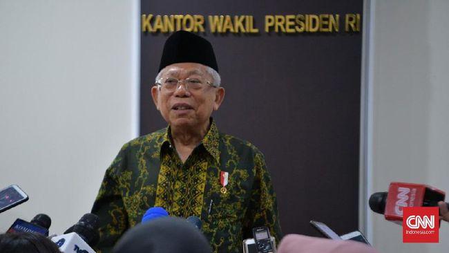 Wapres Ma'ruf Amin mengatakan NKRI sudah final dan sepakati sehingga sistem lain tidak bisa masuk.