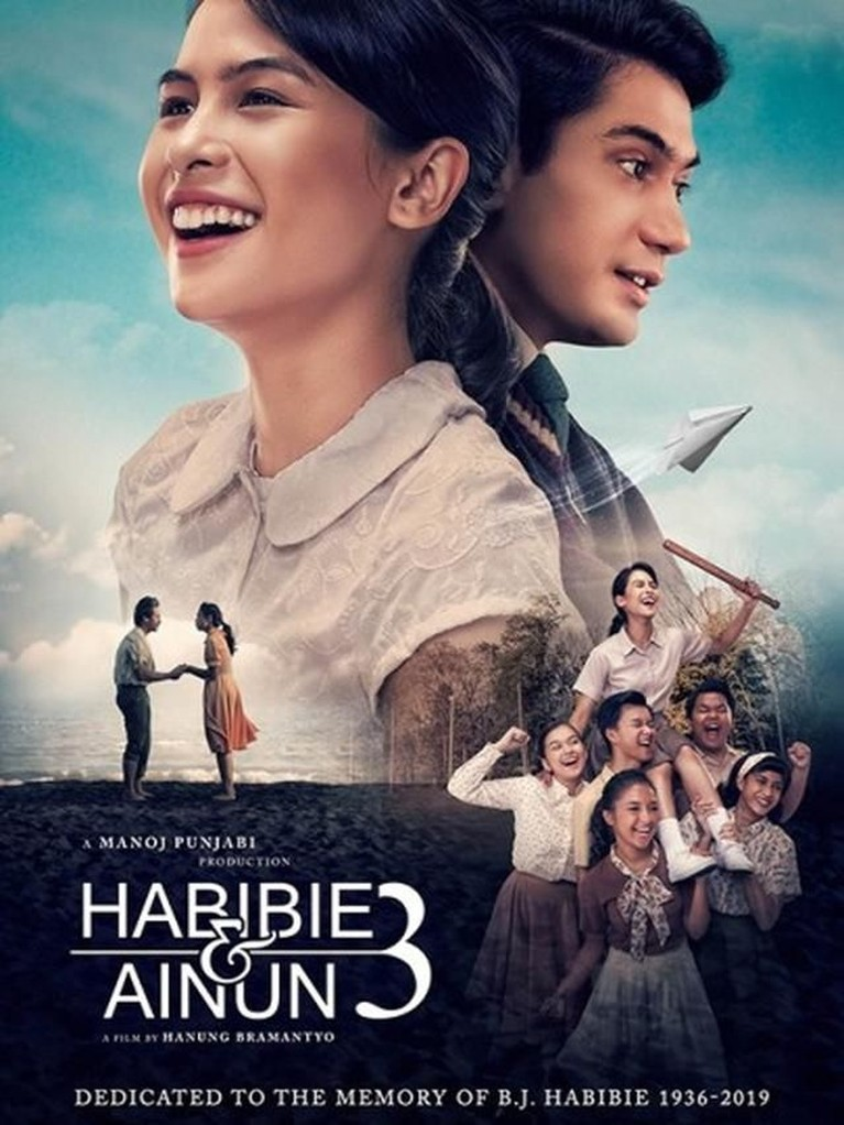 Film trilogi kisah cinta Presiden Ketiga Indonesia, BJ Habibie dan istrinya Ainun, Habibie & Ainun 3 akan tayang 19 Desember 2019.