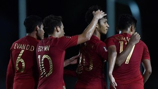FOTO: Pesta Delapan Gol Indonesia Lawan Brunei di SEA Games