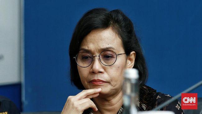 Menteri Keuangan Sri Mulyani saat menggelar konferensi pers terkait perkembangan temuan 'MOGE' dalam pesawat Garuda. Jakarta. Kamis (5/12/2019).CNN Indonesia/Andry Novelino
