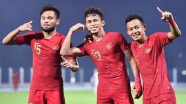FOTO: Pesta Indonesia ke Gawang Laos dan Lolos ke Semifinal