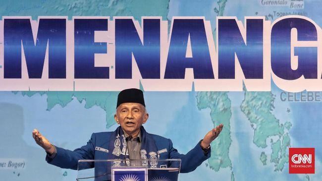 Ketua Dewan Kehormatan Partai Amanat Nasional (PAN), Amien Rais, saat berpidato pada Rakernas V PAN di Hotel Millenium, Jakarta, Sabtu, 7 Desember 2019. CNN Indonesia/Bisma Septalisma