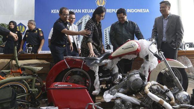 DJBC Kemenkeu mengatakan belum melaksanakan lelang Harley Davidson dan sepeda Brompton dari kasus penyelundupan eks direktur utama Garuda Indonesia Ari Askhara.