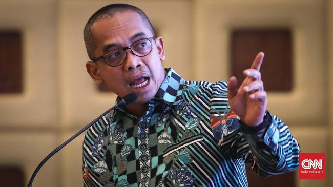 Dirjen Pajak, Suryo Utomo saat dialog perpajakan di Jakarta, Selasa, 10 Desember 2019. CNNIndonesia/Safir Makki