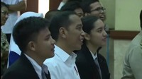 <p>Ternyata Erick, Wishnutama, Nadiem, Sogi, dan Bedu sukses menghibur penonton, termasuk Jokowi. (Foto:Instagram/ @erickthohir)</p>