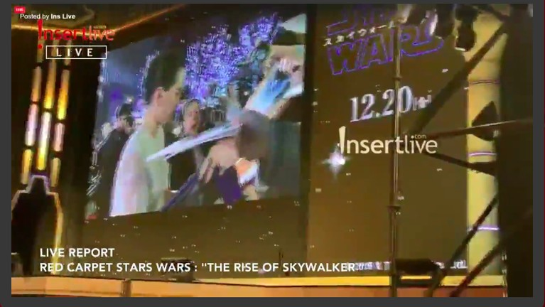 Ini keseruan red carpet Star Wars: The Rise of Skywalker, di Hotel Ritz Carlton, Tokyo, Jepang, Rabu (11/12).