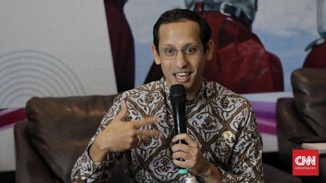 Menteri Pendidikan dan Kebudayaan (Mendikbud) Nadiem Anwar Makarim saat menyampaikan pokok kebijakan bidang pendidikan pada Rapat Koordinasi. Jakarta, Rabu, 11 Desember 2019. CNNIndonesia/Adhi Wicaksono.