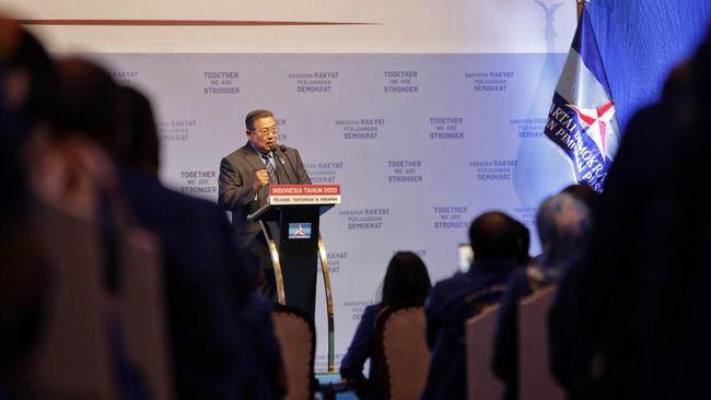 SBY mengirimkan pesan kepada kader Demokrat agar tetap semangat dengan perjuangan terkait omnibus law UU Ciptaker.
