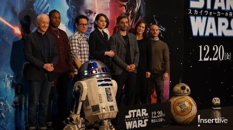 Konferensi pers Star Wars: The Rise of Skywalker dihadiri oleh para pemain seperti Anthony Daniels, Jhon Boyega, Daisy Raidley dan Oscar Isaac.
