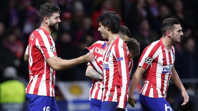 Atletico Madrid jadi tim terakhir yang lolos ke babak 16 besar Liga Champions, setelah sukses mengalahkan Lokomotiv Moskow 2-0.
