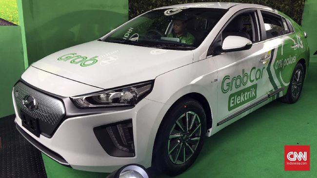 Grab Indonesia menggandeng Hyundai dalam penyediaan 20 unit Ioniq. Mobil akan digunakan sebagai taksi online berteknologi murni listrik.