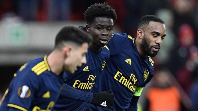 Pemain muda Arsenal, Bukayo Saka, saat ini tercatat sebagai pemain The Gunners dengan assist terbanyak pada musim ini.