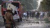 Ratusan orang turun ke jalan di India untuk menolak rancangan undang-undang kewarganegaraan, Kamis (12/12).