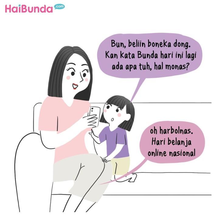 Ini yang dilakukan Bunda, Ayah, dan Kakak di Hari Belanja Online Nasional (Harbolnas). Kalau Bunda dan keluarga ngapain? Beli apa aja nih?