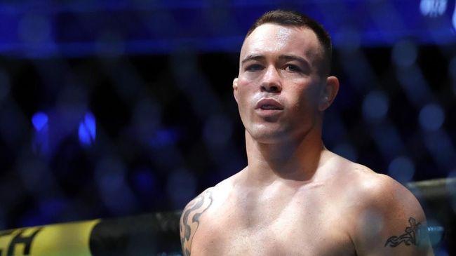 Petarung Colby Covington menang TKO atas Tyron Woodley di kelas welter dalam UFC Vegas 11, Sabtu (19/9) waktu setempat.