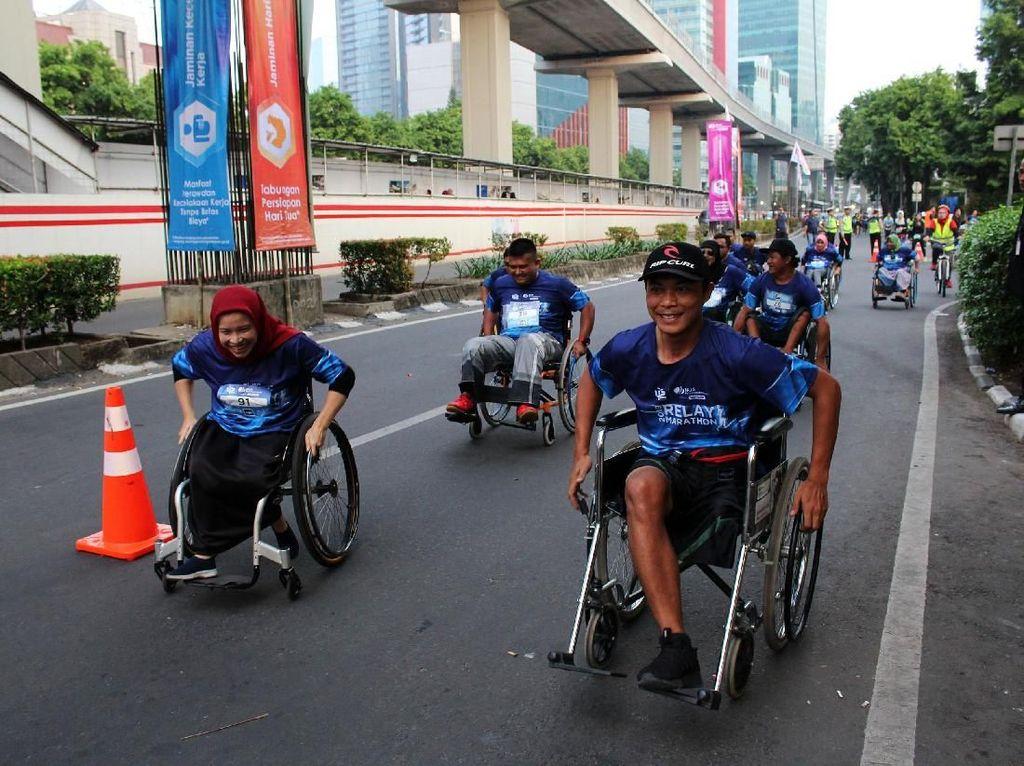 Penyandang Disabilitas Ramaikan BPJAMSOSTEK Relay Marathon