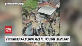 VIDEO: 25 Pria Pelaku Aksi Kerusuhan di Bandung Ditangkap