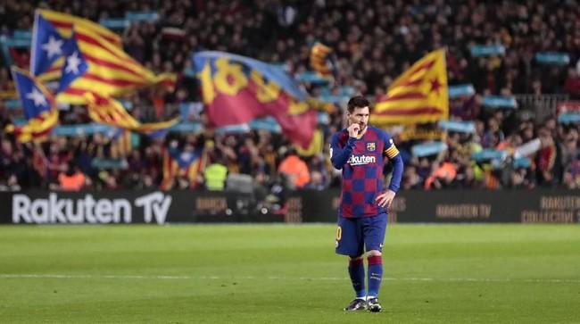 Striker Lionel Messi gagal memberikan kontribusi di laga El Clasico saat Barcelona menjamu Real Madrid di Stadion Camp Nou, Kamis (19/12) dini hari WIB.