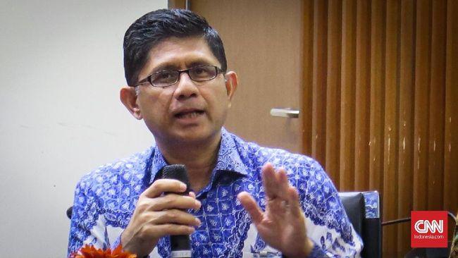Wakil Ketua KPL Laode M. Syarif berbicara dalam diskusi