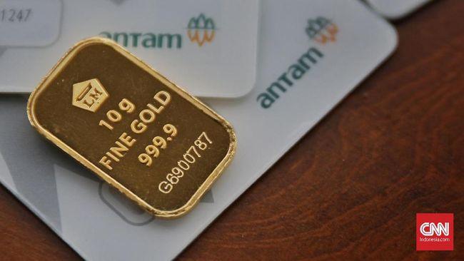 Harga emas Antam turun Rp4.000 per gram menjadi Rp1,007 pada perdagangan Jumat (23/10).