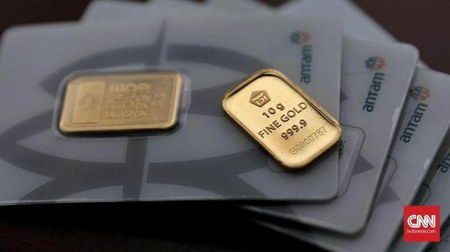 Harga jual emas Antam menguat ke Rp783 ribu per dolar AS pada perdagangan Rabu (19/2).