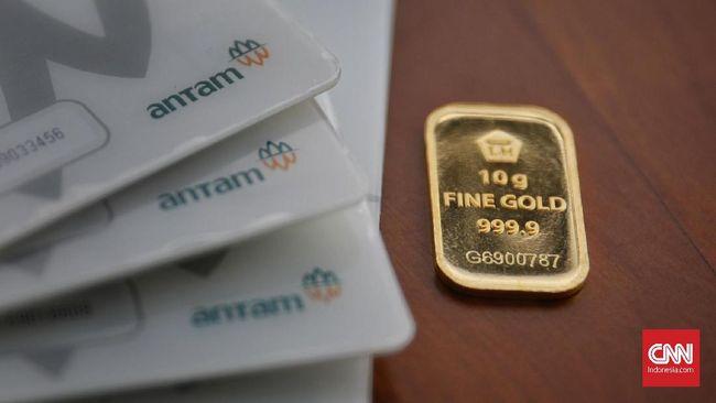 Harga emas Antam melesat Rp14 ribu ke level Rp952 ribu per gram pada Rabu (2/12).