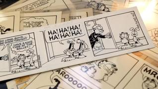 Kartunis Jim Davis Lelang Komik Strip Garfield dari 1978-2011