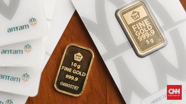 Harga emas Antam naik Rp5.000 ke level Rp1,004 juta per gram pada Kamis (8/10).