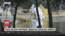 VIDEO: Polisi Selidiki Penyebab Jembatan Kemayoran Ambruk