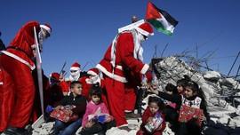 FOTO : Perayaan Natal di Tanah Kelahiran Yesus