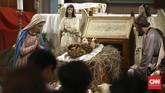 Ibadah Misa Malam Natal di Gereja Katedral, Jakarta, Selasa (24/12), berjalan lancar.