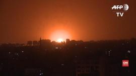 VIDEO: Israel Balas Serangan Roket dari Jalur Gaza