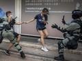 Unjuk Rasa saat Tahun Baru di Hong Kong Ricuh