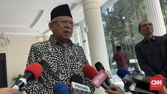 Wakil Presiden Ma'ruf Amin memberikan keterangan, Kamis (26/12)