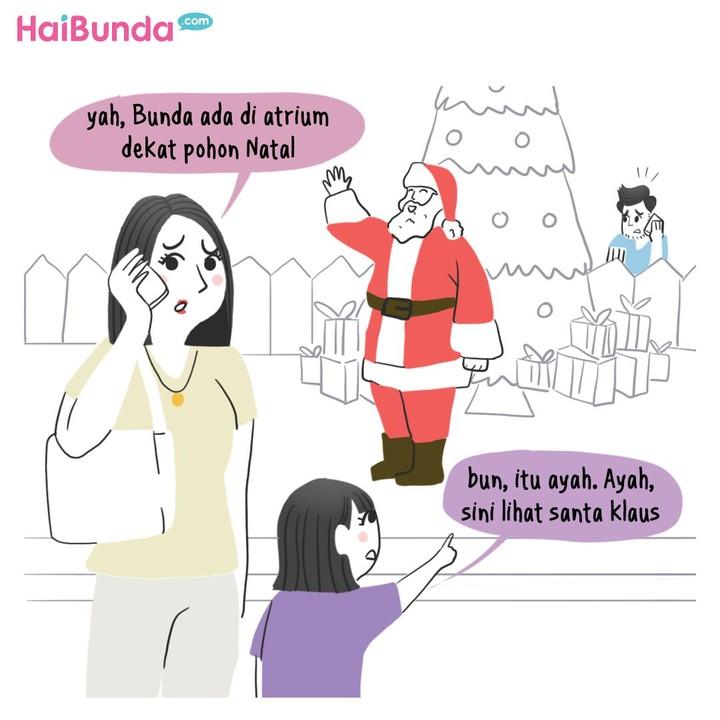 Berbagai hal bisa terjadi di hari besar seperti Hari Raya Natal. Seperti yang dialami Bunda di komik ini. Kalau keluarga Bunda punya cerita Natal apa?