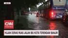VIDEO: Hujan Deras, Ruas Jalan Ibu Kota Terendam Banjir